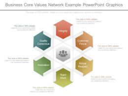 Business Core Values Network Example Powerpoint Graphics