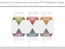 Business Core Values Network Example Ppt Background Images