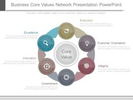 Business Core Values Network Presentation Powerpoint