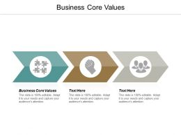 Business Core Values Ppt Powerpoint Presentation Gallery Diagrams Cpb