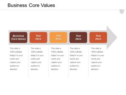 Business Core Values Ppt Powerpoint Presentation Infographic Template Layouts Cpb