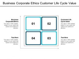 Business Corporate Ethics Customer Life Cycle Value Business Intelligence Cpb