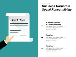 Business Corporate Social Responsibility Ppt Powerpoint Presentation Portfolio Visuals Cpb