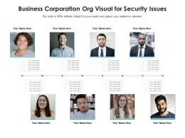 Business Corporation Org Visual For Security Issues Infographic Template