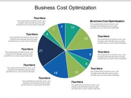 Business Cost Optimization Ppt Powerpoint Presentation File Professional Cpb