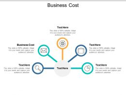 Business Cost Ppt Powerpoint Presentation Slides Influencers Cpb