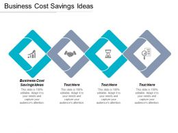 Business Cost Savings Ideas Ppt Powerpoint Presentation Gallery Graphic Images Cpb