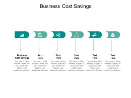 Business Cost Savings Ppt Powerpoint Presentation Portfolio Background Designs Cpb