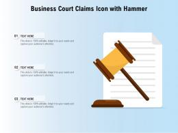 Business Court Claims Icon With Hammer