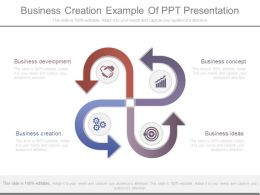 Business Creation Example Of Ppt Presentation