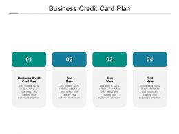Business Credit Card Plan Ppt Powerpoint Presentation Infographic Template Model Cpb