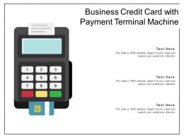 Business Credit Card With Payment Terminal Machine