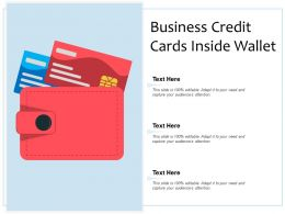 Business Credit Cards Inside Wallet