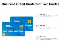 Business Credit Cards With Two Circles