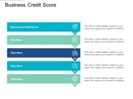 Business Credit Score Ppt Powerpoint Presentation File Display Cpb