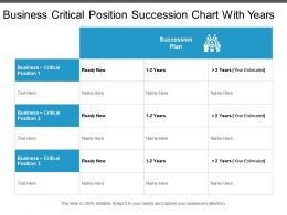 Business Critical Position Succession Chart With Years