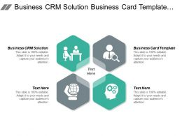 Business Crm Solution Business Card Template Impressive Resume Cpb