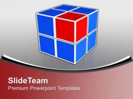 Business Cube Leadership Powerpoint Templates Ppt Backgrounds For Slides 0113