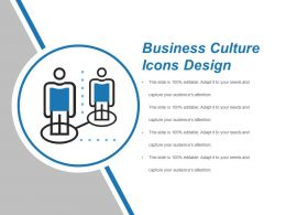 Business Culture Icons Design Powerpoint Images