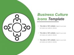 Business Culture Icons Template PowerPoint Layout
