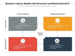 Business Culture Model With Structural And Motivational Fit