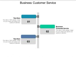 Business Customer Service Ppt Powerpoint Presentation Ideas Background Images Cpb