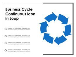 Business Cycle Continuous Icon In Loop