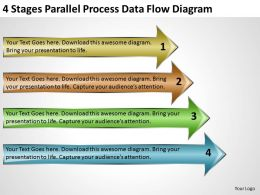 Business Cycle Diagram 4 Stages Parallel Process Data Flow Powerpoint Templates