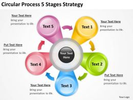 Business Cycle Diagram 5 Stages Strategy Powerpoint Templates PPT Backgrounds For Slides 0515