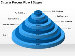 Business Cycle Diagram Circular Process Flow Six 8 Stages Powerpoint Templates