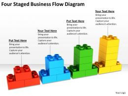 Business Cycle Diagram Four Staged Flow Powerpoint Templates