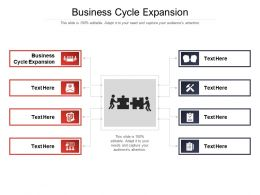 Business Cycle Expansion Ppt Powerpoint Presentation File Clipart Images Cpb