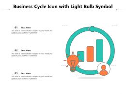 Business Cycle Icon With Light Bulb Symbol