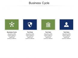 Business Cycle Ppt PowerPoint Presentation Professional Influencers Cpb