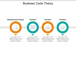 Business Cycle Theory Ppt Powerpoint Presentation Infographic Template Backgrounds Cpb