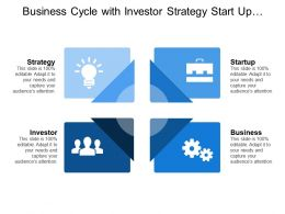 Business Cycle With Investor Strategy Start Up Business
