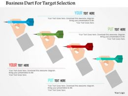 Business Dart For Target Selection Flat Powerpoint Design