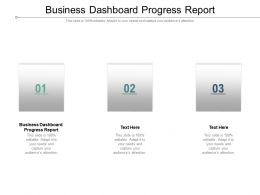Business Dashboard Progress Report Ppt Powerpoint Presentation File Cpb
