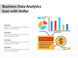 Business Data Analytics Icon With Dollar