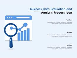 Business Data Evaluation And Analysis Process Icon