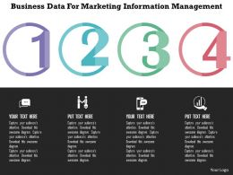 Business Data For Marketing Information Management Flat Powerpoint Design