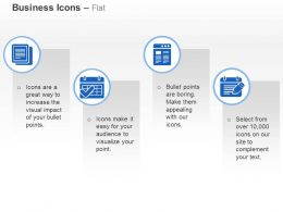 Business Data Record Fomation Calendar Ppt Icons Graphics