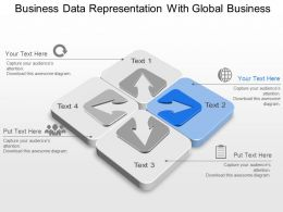 Business Data Representation With Global Business Powerpoint Template Slide