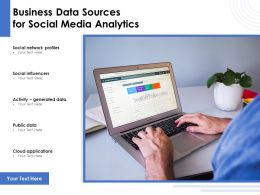 Business Data Sources For Social Media Analytics