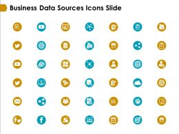 Business Data Sources Icons Slide Target Ppt Powerpoint Presentation