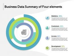 Business Data Summary Of Four Elements