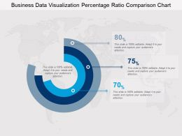 Business Data Visualization Percentage Ratio Comparison Chart