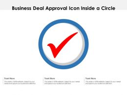 Business Deal Approval Icon Inside A Circle