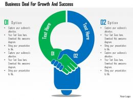 Business Deal For Growth And Success Flat Powerpoint Design