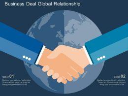 Business Deal Global Relationship Flat Powerpoint Design